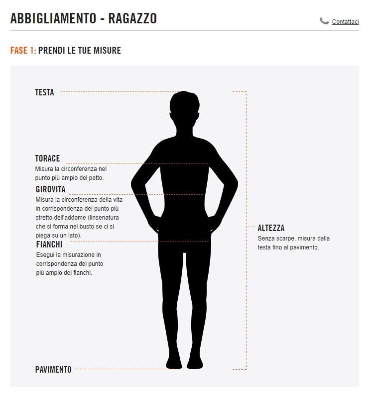 Tabelle misure Nike Bambino Guandalini Sport  8dUpZ4